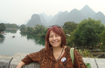Francine Kuipers, CEO of Accent on Languages during a visit to China.